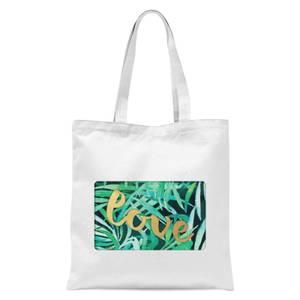 Jungle Bush Golden Love Tote Bag - White