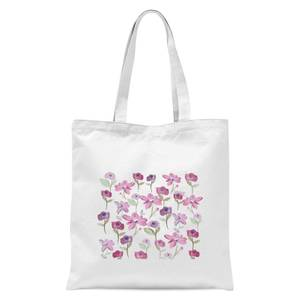 Spring Flower Bed Tote Bag - White