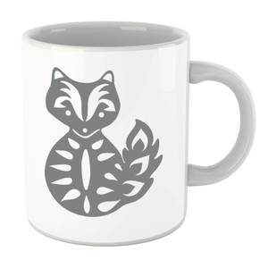 Folk Silhouette Fox Cutout Mug