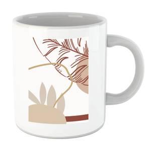 Decorative Leaf Print Mug