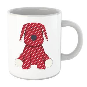Red Polka Dot Dog Teddy Mug