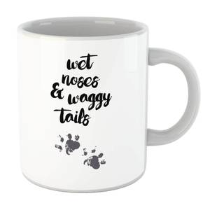 Wet Noses And Waggy Tails Paw Prints Mug