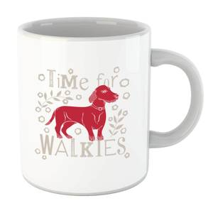 Time For Walkies Cutout Sausage Dog Mug
