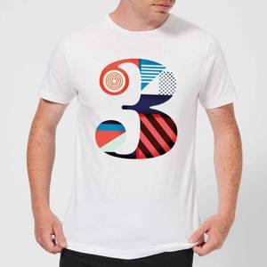 3 Men's T-Shirt - White