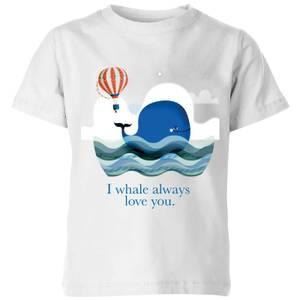 I Whale Always Love You Kids' T-Shirt - White