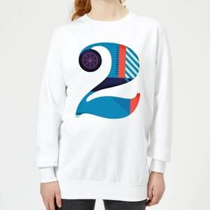 2 Women's Sweatshirt - White