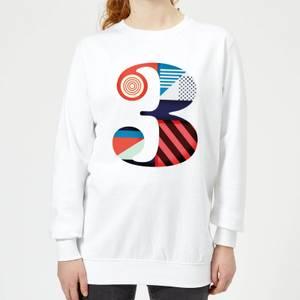3 Women's Sweatshirt - White