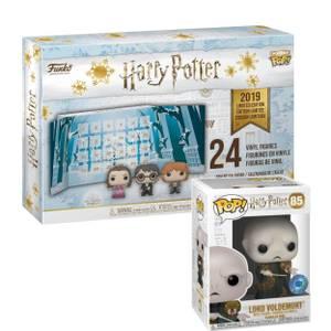 Harry Potter Pop! Advent Calendar and PIAB EXC Harry Potter Voldemort with Nagini Funko Pop! Vinyl