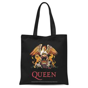 Queen Crest Tote Bag - Black
