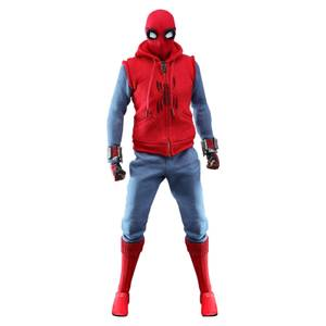 Figurine articulée MM Spider-Man (costume maison), Spider-Man : Far From Home, échelle 1:6 (29 cm) – Hot Toys