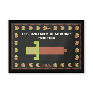 It's Dangerous To Go Alone Entrance Mat