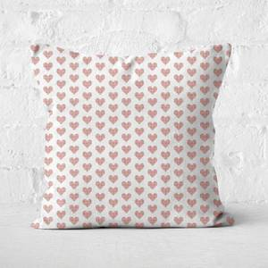 Love Heart Cross Stitch Square Cushion