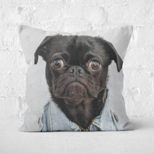 Gangsta Pug Square Cushion