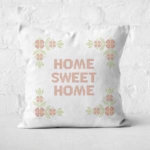 Home Sweet Home Cross Stitch Square Cushion