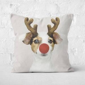 Christmas Doggo Square Cushion