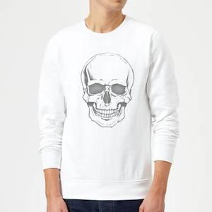 Skull Sweatshirt - White