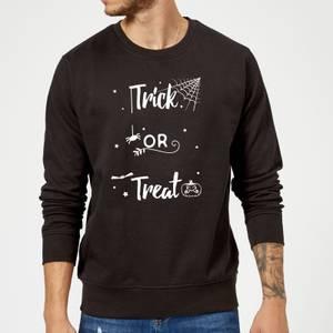 Trick Or Treat Spider Sweatshirt - Black