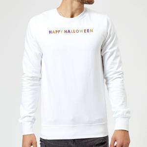 Colourful Happy Halloween Sweatshirt - White