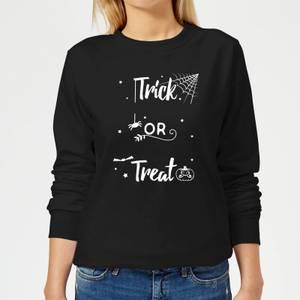 Trick Or Treat Spider Women's Sweatshirt - Black