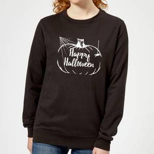 Happy Halloween Pumpkin Women's Sweatshirt - Black