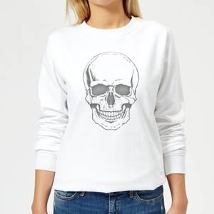 Skull Women's Sweatshirt - White