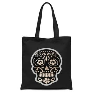 Day Of The Dead Skull Tote Bag - Black