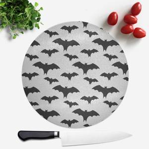 Black And White Bat Pattern Round Chopping Board