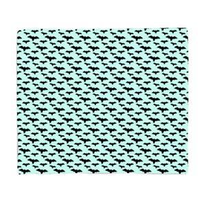 Black And Blue Bat Pattern Fleece Blanket