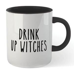 Drink Up Witches Mug - White/Black