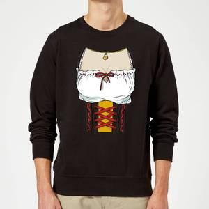 Oktoberfest Ladies Chest Sweatshirt - Black
