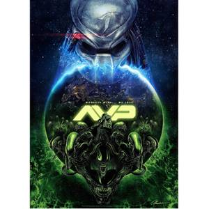 "Alien V Predator ""15th Anniversary"" Giclee by Chris Christodoulou - Zavvi Exclusive"