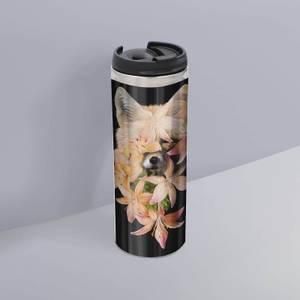 Foxy Flowers Thermo Insulated Travel Mug