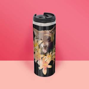 Wolfish Flowers Thermo Insulated Travel Mug