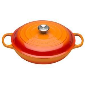 Le Creuset Signature Cast Iron Shallow Casserole Dish - 30cm - Volcanic