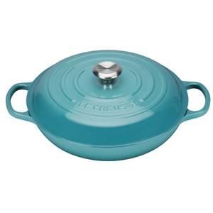 Le Creuset Signature Cast Iron Shallow Casserole Dish - 30cm - Teal