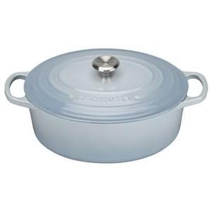 Le Creuset Signature Cast Iron Oval Casserole Dish - 27cm - Coastal Blue