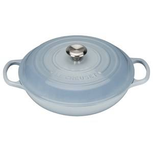 Le Creuset Signature Cast Iron Shallow Casserole Dish - 30cm - Coastal Blue