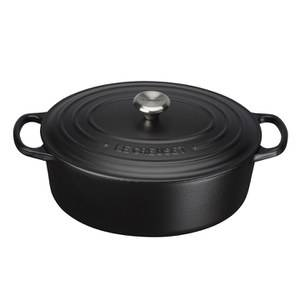 Le Creuset Signature Cast Iron Oval Casserole Dish - 27cm - Satin Black