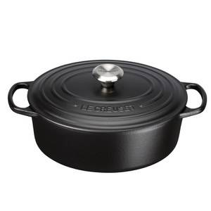 Le Creuset Signature Cast Iron Oval Casserole Dish - 29cm - Satin Black